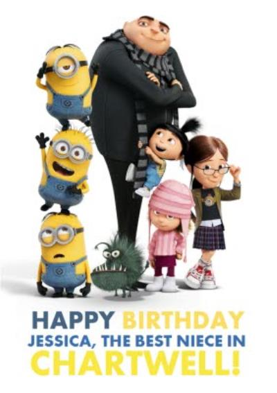 The Minions Happy Birthday To The Best Niece Personalised Card