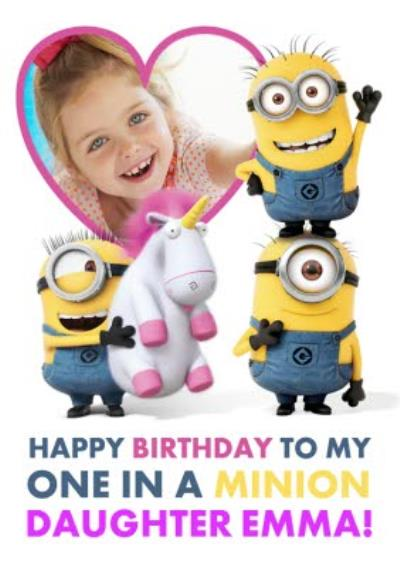 The Minions Happy Birthday To My One In A Minion Photo Card