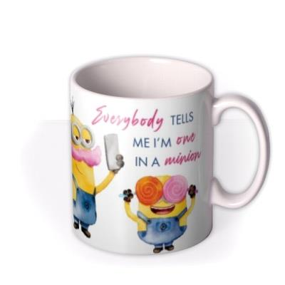 Despicable Me One In A Minion Photo Upload Mug