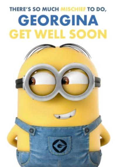 Despicable Me Get Well Soon Personalised Card