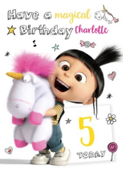 Despicable Me Personalised Birthday Card