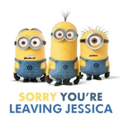Despicable Me Youre Leaving Personalised Card