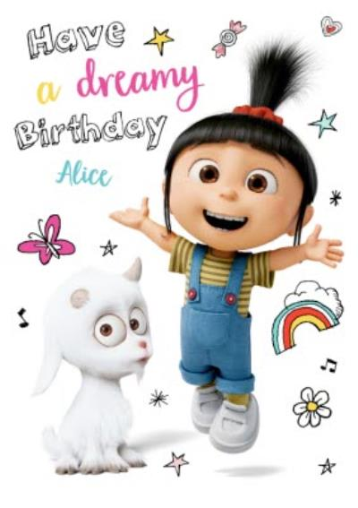 Despicable Me Personalised Dreamy Birthday Card
