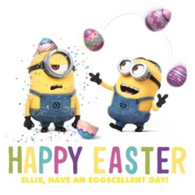 Dispicable Me Easter Eggscellent Day Card