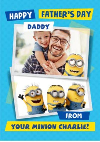 The Minions Happy Father's Day Daddy Photo Card