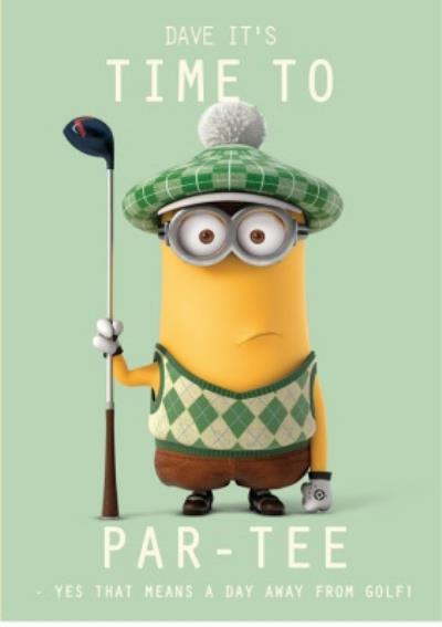 Funny Birthday Cards - Minions - Golf