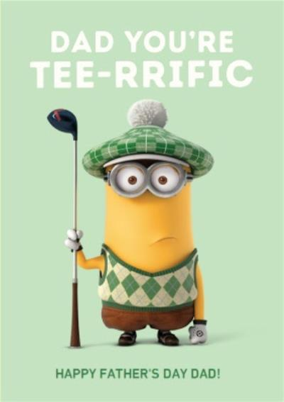 Despicable Me Golfing Minion You're Tee-rrific Father's Day Card