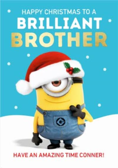 Despicable Me Minions Christmas Card To A Brilliant Brother