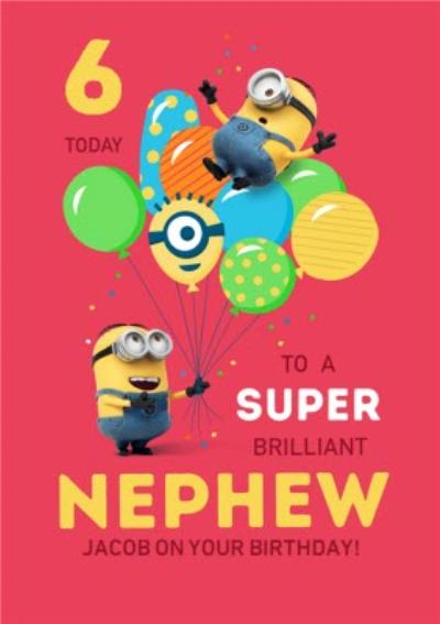 Despicable Me Minions Super Brilliant Nephew Birthday Card