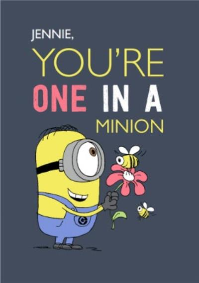 Despicable Me Minions You're One In A Minion Birthday Card