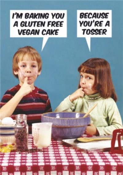 Dean Morris Gluten Free Vegan Funny Card