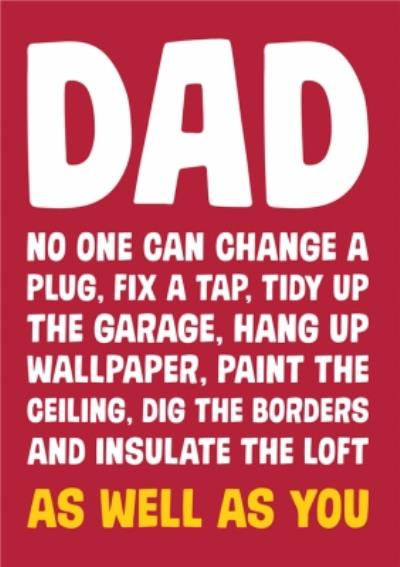 Dean Morris Dad Mr Fix It Father's Day Card