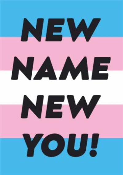 Typographic New Name New you Card