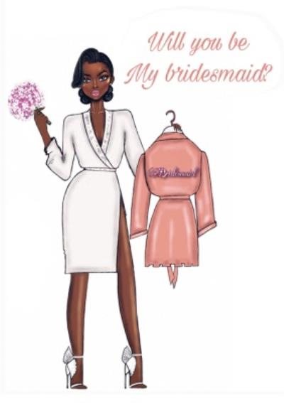 Modern Illustrated Will You Be My Bridesmaid Card
