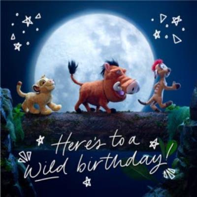 Cute Disney Plush Lion King Wild Birthday Card