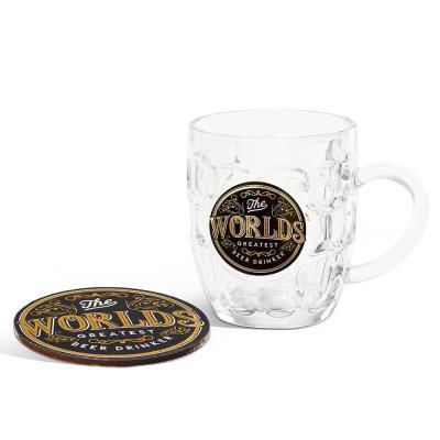 World's Greatest Beer Drinker Glass & Coaster Set