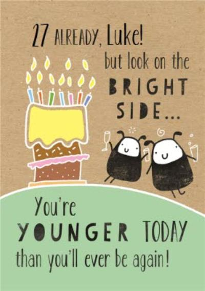 27th Birthday Card