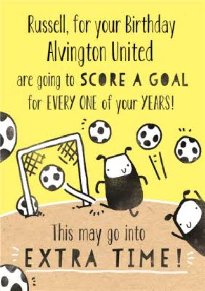 Deeply Sheeply Score A Goal Birthday Card