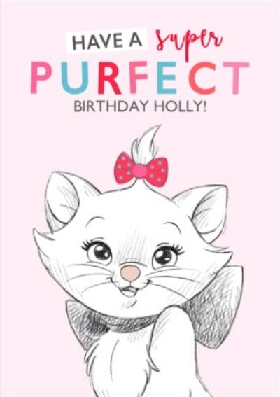 Disney Sketch Aristocat Marie Purfect Birthday Card