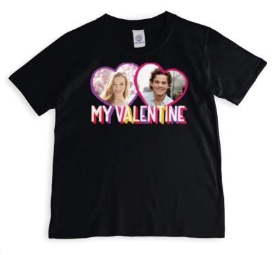 My Valentine's Photo upload T-shirt