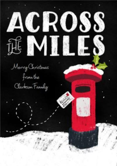 Dusty Across The Miles Personalised Christmas Card
