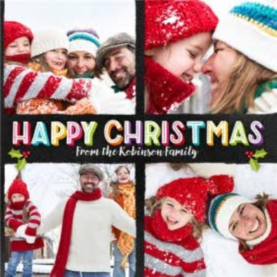 From the family Personalised Christmas Photo Card