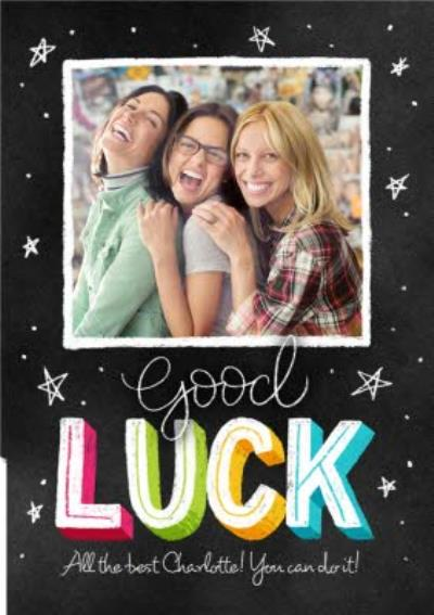 Good luck photo upload card