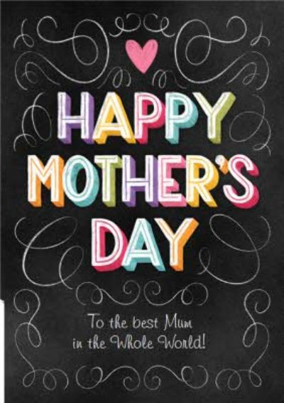 Chalk Lettering Mother's Day Card