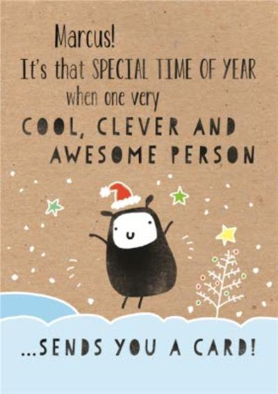 Christmas Card - A Card From A Cool, Clever & Awesome Person