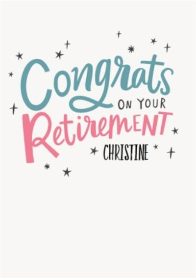 Illustrated Typographic Congrats On Your Retirement Card