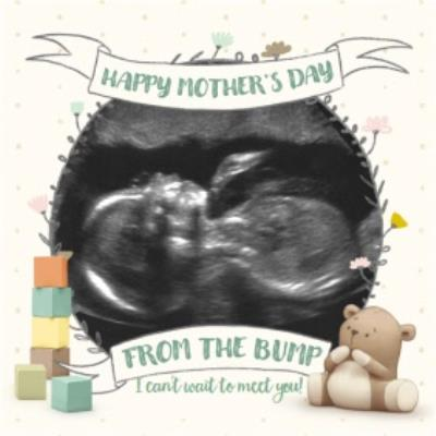 Ultrasound Scan Photo Happy Mother's Day From The Bump Card