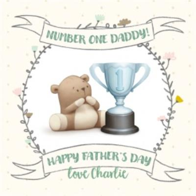 Father's Day card - Dad - Number one Daddy - Dud - cute