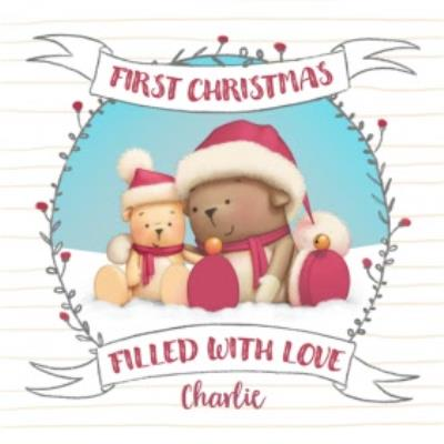 First Christmas Together Bear Card