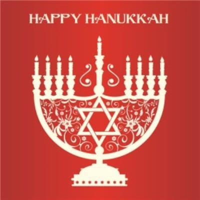 Menorah Star Of David Personalised Happy Hanukkah Card