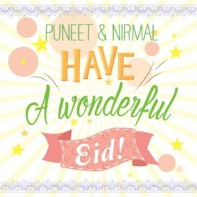Personalised Bright Letters Have A Wonderful Eid Card