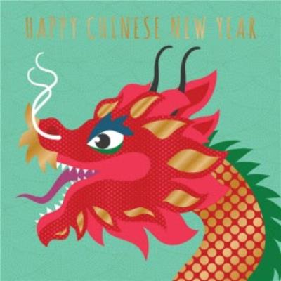 Dragon Illustration Chinese New Year Card