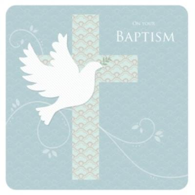 On Your Baptism Cross and Dove Card