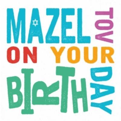 Colourful Mazel Tov On Your Birthday Card