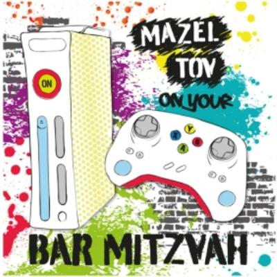 Mazel Tov On Your Bar Mitzvah Games Console Card
