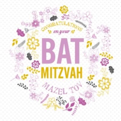 Floral Congratulations On Your  bat mitzvah Card