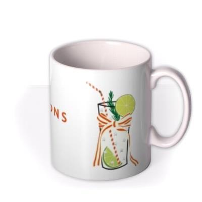 Let The Celebration Be Gin Christmas Mug