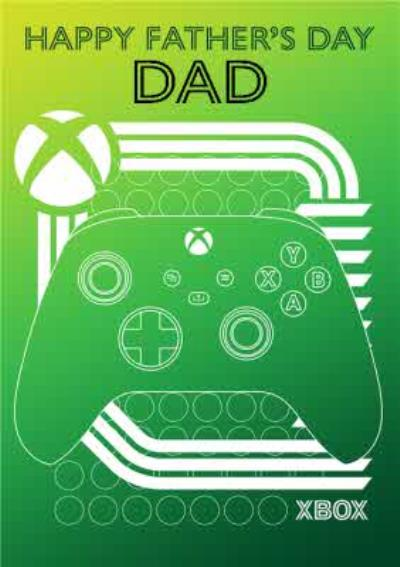Nintendo Xbox Green Controller Happy Fathers Day Dad Card