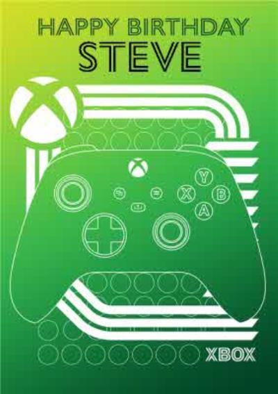 Nintendo Xbox Green Controller Happy Birthday Card