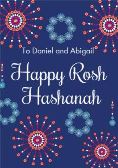 Eastern Print Happy Rosh Hashanah Card