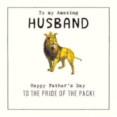Husband Pride Of The Pack Fathers Day Card