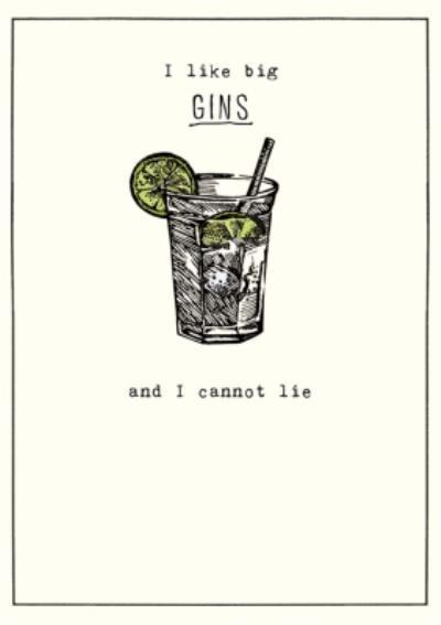 Birthday Card - Gin - Alcohol