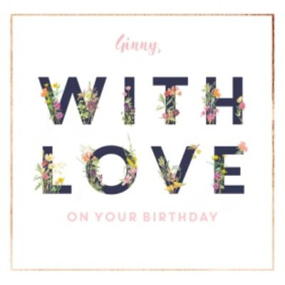 Country Diary Love On Your Birthday Personalised Card