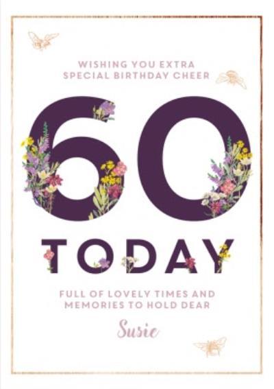 Edwardian Lady 60Th Birthday Personalised Card