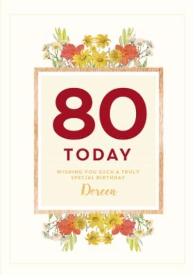 Edwardian Lady 80Th Birthday Personalised Card
