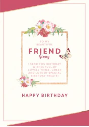 Admirable Traditional Birthday Card Beautiful Friend Moonpig Funny Birthday Cards Online Inifodamsfinfo